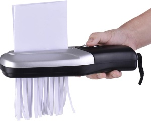 Aibecy Portable Handheld Paper Shredder Cutter A6
