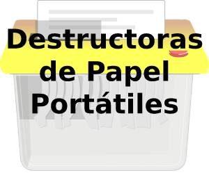 Destructoras de Papel Portátiles
